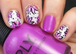 13 days of january day 1 follow a tutorial floral nail art