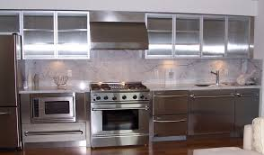 most used stainless steel kitchen cabinets cabinets metal chrome