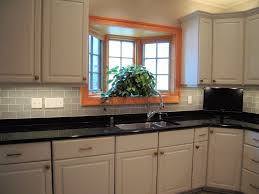 kitchen backsplash ideas for kitchen with blue glass tile kitchen