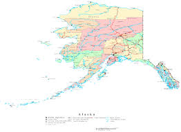 Printable Map Of The United States Alaska Printable Map