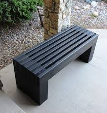 Building Outdoor Wood Furniture by Best 25 Modern Outdoor Benches Ideas On Pinterest Modern Bench