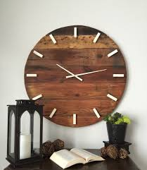 Unique Desk Clocks by Rustic Wall Clock Oversized Wall Clock Large Wall Clock 31 Inch