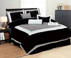 new 7 pc bed in a bag king bedding black white gray sat