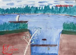 Как рисовать воду акварелью