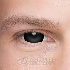 mini sclera halloween 1 day black coloured contact lenses
