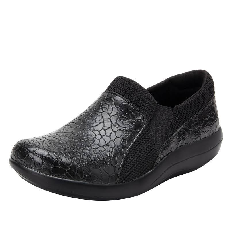Alegria Duette Slip On Shoe 5-5.5 US in Flourish Black