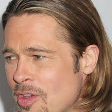 elegant brad pitt long hair with mens long hairstyles for thin