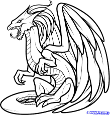 draw white dragon white dragon step step drawing sheets added