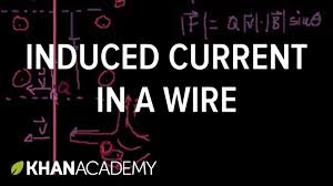 induced current in a wire physics khan academy youtube