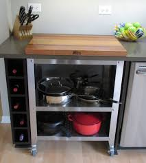 Portable Islands For Kitchens Impressive Kitchen Portable Island Bench With Wine Rack In Kitchen
