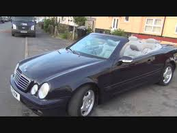 mercedes clk roof down youtube