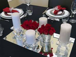 Silver Centerpieces For Table Surprising Red And Silver Christmas Table Decorations 64 For