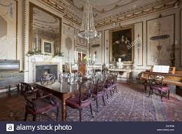 the dining room at hatchlands park surrey the painting at the