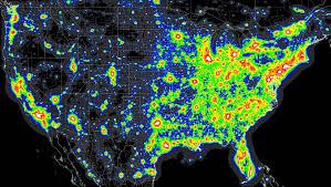 Us Map Michigan by Michigan Light Pollution Map Michigan Map