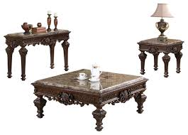 traditional living room table set 3 piece set victorian