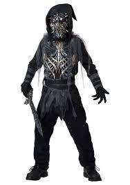 Kids Skeleton Halloween Costumes Child Death Warrior Costume