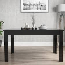 Vivienne Extending Black High Gloss  Seater Dining Table - Black dining table for 4