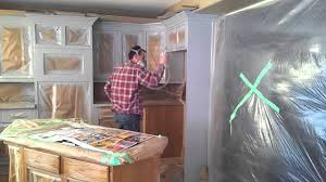 Professional Spray Painting Kitchen Cabinets How To Prep And Spray Kitchen Cabinets Youtube