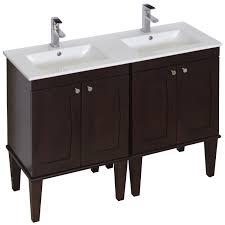 Bathroom Vanity Double by Amimage 48 Inch Double Sink Birch Wood Veneer Bathroom Vanity