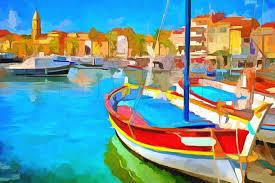 peinture de bord de mer tableau mer découvrez des tableaux de port de bateaux peinture