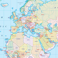 Peters Projection World Map by Vector World Map Gall Projection Political Map Small Scale Uk