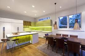 green and white modern kitchen interior design ideas