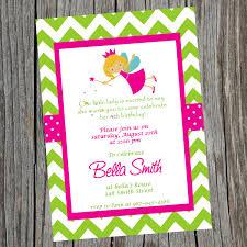 1st birthday princess invitation printable fairy princess birthday party invitation