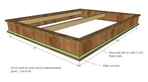 How To Build A Full Size Platform Bed With Drawers by Ana White Chestwick Platform Bed Queen Size Diy Projects