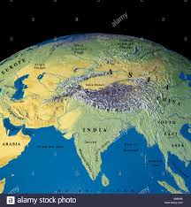 World Map Asia by Globe Map Maps Asia India Indochina China Stock Photo Royalty