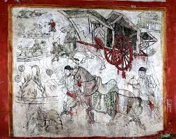 Mural Painting Sketches by 1 000 Year Old Ancient Liao Dynasty Chinese Tomb Discovered With