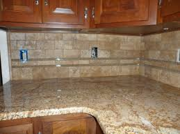 glass tile back splash grouted limestone and glass backsplash