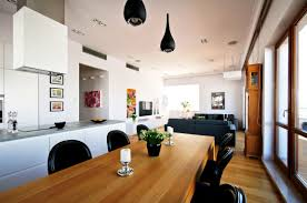 cafe kitchen idea combined with dining room for comfy design