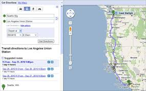 Google Maps Los Angeles by Coast Starlight On Google Transit U2013 Railpac