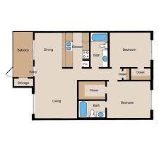 2 Bedroom 1 Bath Floor Plans Floor Plans The Bellfort Upscale Apartment Living Near Hobby