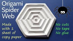 origami spider web diy paper halloween decoration tutorial youtube