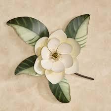 belle fleur magnolia metal wall art