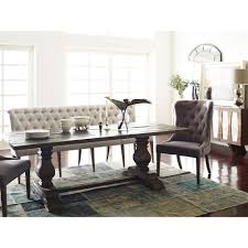 andrea french country tufted sand long dining bench banquette