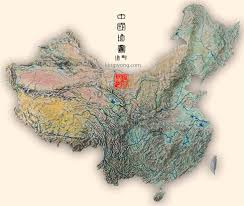 China Topographic Map by 中国旅游图片 中国地图pictures Of China Map Of China