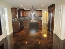 Kitchen Floors Ideas Dark Stained Concrete Floors Stained Concrete Floors Ideas