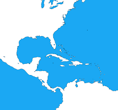 Caribbean Sea On Map by Blank Map Of The Caribbean By Dinospain On Deviantart