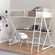 teens room cool boy simple grey painted iron loft beds for
