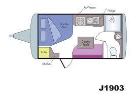 Caravan Floor Plan Layouts Jurgens Sungazer J19 Series Caravan Floorplans George Day