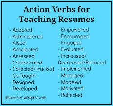 strong words for resumes words to use on a teaching resume other than u201ctaught u201d resume
