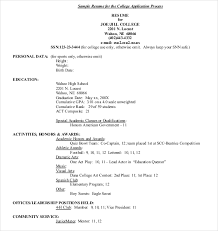 Application Resume Example by 15 College Application Templates U2013 Free Sample Example Format