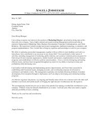 Cover letter for sales and marketing internship