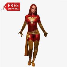 Supergirl Halloween Costume Men Red Phoenix Cosplay Costume Halloween Costumes Women