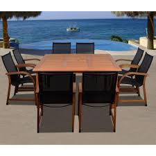 amazonia bahamas square 9 piece eucalyptus patio dining set