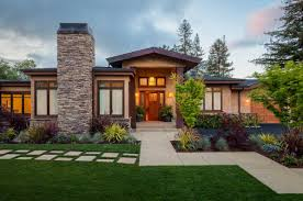 Craftsman Home by Craftsman Home Style With Crumbling Stone And Dark Cream Wall