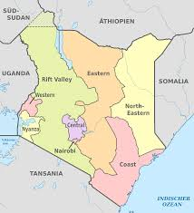 Map Of Kenya Africa by File Kenya Administrative Divisions De Colored Svg