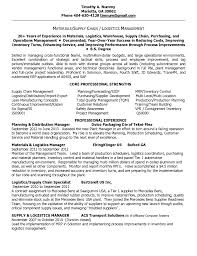 Resume Examples Retail Manager by Materials Manager Resume Free Resume Example And Writing Download
